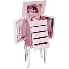 Pink and White Armoire