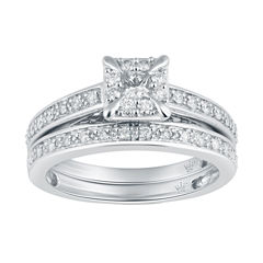 Hallmark Bridal Womens 1/2 CT. T.W. Diamond 10K Gold Bridal Set