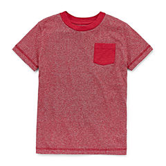 Arizona Stripe Tee Short Sleeve Crew Neck T-Shirt-Preschool Boys