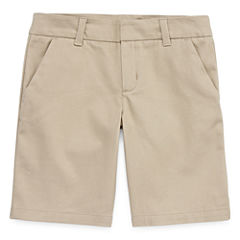 Arizona Slim Fit Woven Bermuda Shorts - Preschool Girls