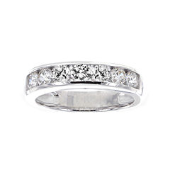 DiamonArt® Cubic Zirconia Sterling Silver Channel-Set Ring