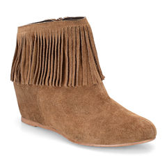 Comfortiva Riverton Fringe Wedge Booties