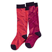 Nike® 2-pk. Graphic Knee-High Socks