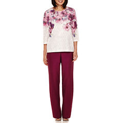 Alfred Dunner® Veneto Valley 3/4-Sleeve Yoke Top or Pants
