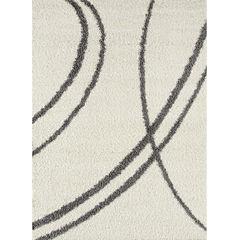 World Rug Gallery Florida Curves Shag Rectangle Rug