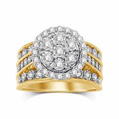 Womens 1 CT. T.W. Genuine Round Diamond 10K Gold Engagement Ring