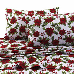 Tribeca Living Christmas Joy Flannel Sheet Set