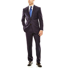 Stafford® Executive 100s Wool Navy Stripe Suit Separates - Classic Fit