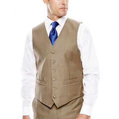 Stafford® Travel Sharkskin Suit Vest - Classic Fit