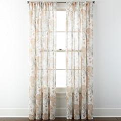 JCPenney Home™ Corina Rod-Pocket Sheer Panel
