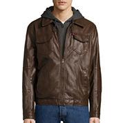 Levi's® Faux Leather Trucker Jacket