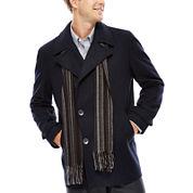 Claiborne® Wool-Blend Pea Coat