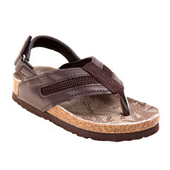Rugged Bear Back-Strap Boys Flip-Flop Sandals - Toddler