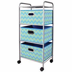 Compact 3-Drawer Storage Cart