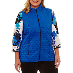 Alfred Dunner Easy Going Quilted Vest-Plus