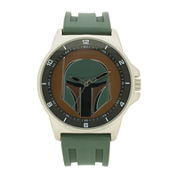 Boba Fett Mens Teal Silicone Strap Watch