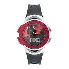 Star Wars® Darth Vader Kids Black Plastic Strap Digital Watch