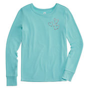 Total Girl Aqua Zest Heart Sleep Top - Girls