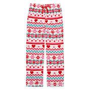 Total Girl White Fairisle Pajama Pants - Girls
