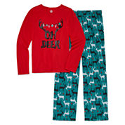 Total Girl 2-pc. Oh Deer Pajama Set - Big Kid & Plus