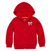 Okie Dokie® Long-Sleeve Solid Fleece Hoodie - Toddler Girls 2t-5t