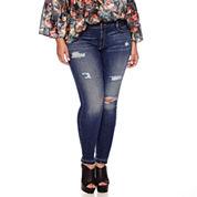 Boutique+ 5-Pocket Skinny Jeans - Plus