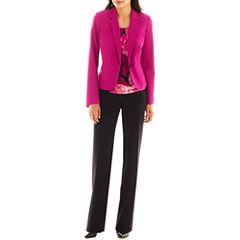 Worthington® Essential Blazer, Metal-Trim Pleated Top or Curvy Straight Pants