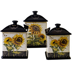 Certified International French Sunflowers 3-pc. Canister Set