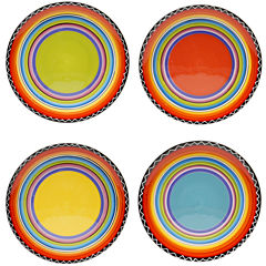 Certified International Tequila Sunrise Set of 4 Salad Plates