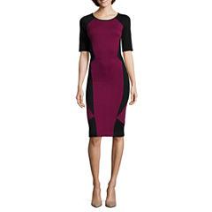 nicole by Nicole Miller® Elbow-Sleeve Colorblock Dress