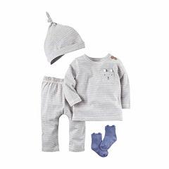 Carter's 4-pc. Stripe Pant Set Baby Boys