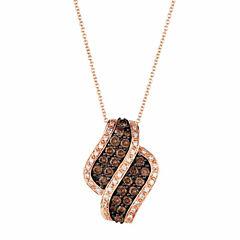 Grand Sample Sale™ by Le Vian® 1 1/5 CT. T.W Vanilla Diamonds® & Chocolate Diamonds® in 14k Strawberry Gold® Chocolatier® Pendant Necklace