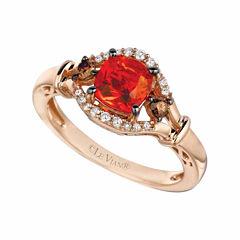 Grand Sample Sale™ by Le Vian® Neon Tangerine Fire Opal® & 1/5 CT. T.W  Vanilla Diamonds® and Chocolate Diamonds® in 14k Strawberry Gold® Ring