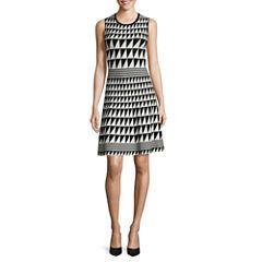 Worthington® Sleeveless Triangle Pattern Sweater Dress