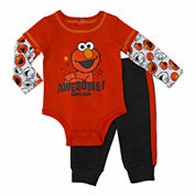 Sesame Elmo Boys Sesame Street Pant Set-Baby