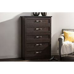 Baxton Studio Colburn 5-Drawer Wood Chest