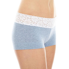 Maidenform® Cotton Dream Lace-Trim Boyshorts - 40859