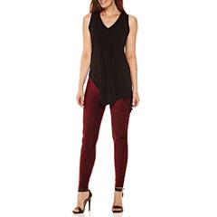 Worthington® Sleeveless Asymmetrical-Hem Tunic or Suede Leggings