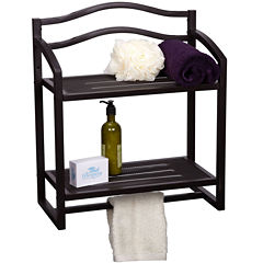 Household Essentials 2-Tier Wall-Mounted Shelf