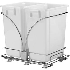 Household Essentials® Double 9-Gallon Pullout Trash Cans