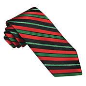 Hallmark® Candy Cane Striped Lurex® Tie - Extra Long