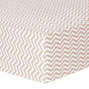 Trend Lab® Doe Chevron Fitted Flannel Crib Sheet