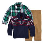 TFW Boys Long Sleeve Pant Set Regular-Baby 3-24 Mos