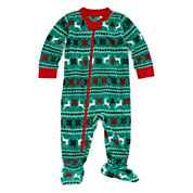 North Pole Trading Co Family Pajamas Unisex Long Sleeve One Piece Pajama-Baby
