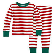 North Pole Trading Co Family Pajamas Unisex Long Sleeve Kids Pajama Set