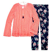 Knit Works Girls Legging Set-Big Kid