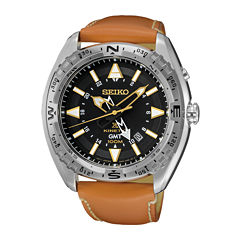 Seiko Dive Mens Brown Strap Watch-Sun055