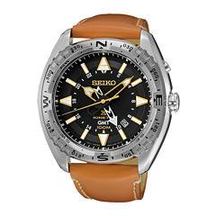 Seiko Dive Mens Brown Strap Watch-Sun055
