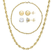 10K Yellow Gold 4-pc. Jewelry Set