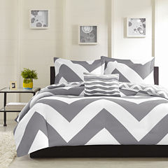 Mi Zone Gemini Chevron Reversible Duvet Cover Set